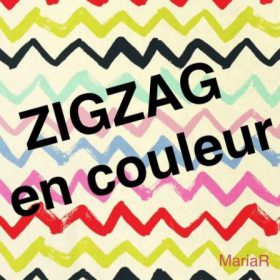 Illustration du profil de zigzag en couleur